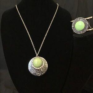 Tribal Pop Bracelet & Medallion Meadows Necklace